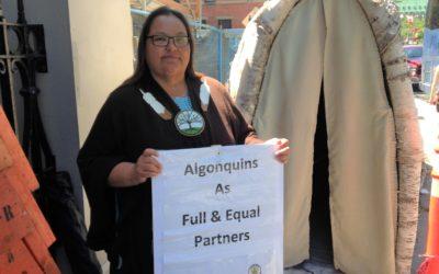 Solidarity with The Algonquin Anishinabeg Nation