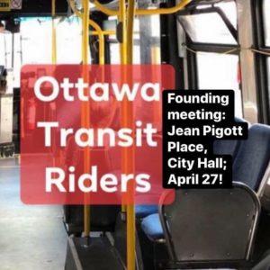 Founding the Ottawa Transit Riders group @ Jean Pigott Place (City Hall)